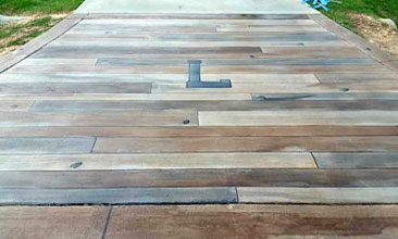 Wood Stamped Concrete Concrete Wood Floor Grand Rapids