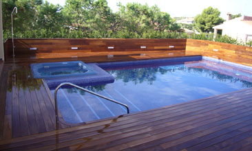 Concrete Wood Pool Deck