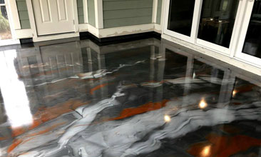 Metallic Epoxy Floor Metallic Epoxy Garage Floor Grand Rapids